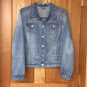 Roz and Ali L Embellished Jean Jacket